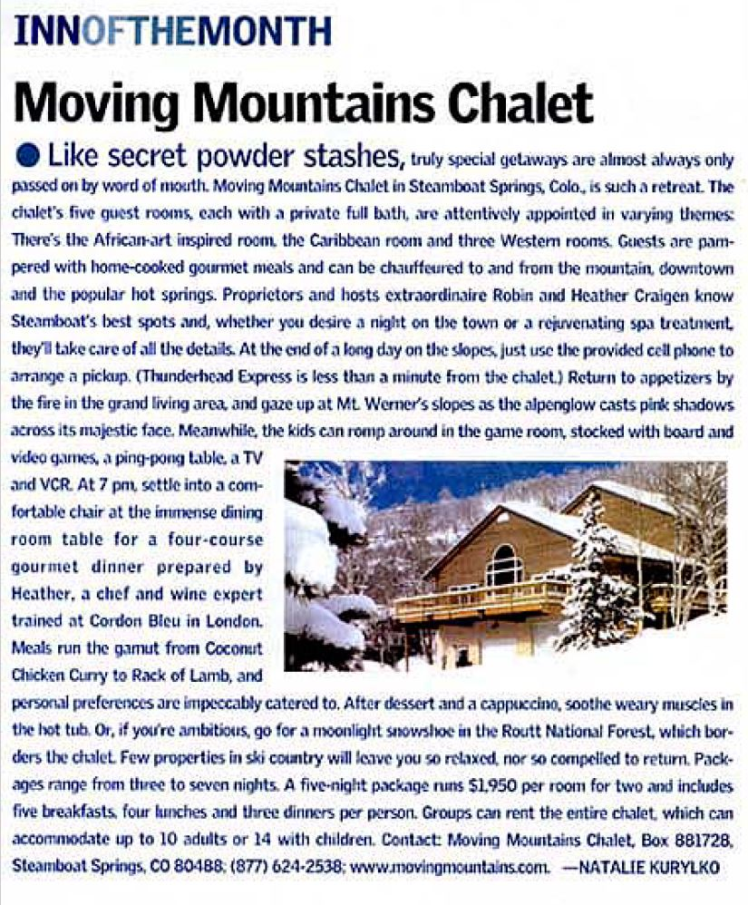 Ski Article : Moving Mountains