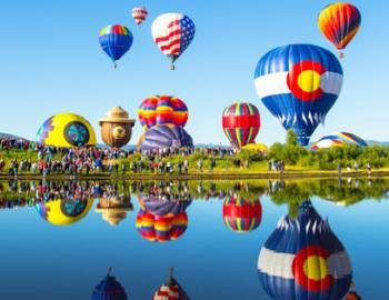 Hot Air Balloon Rodeo in Steamboat Springs
