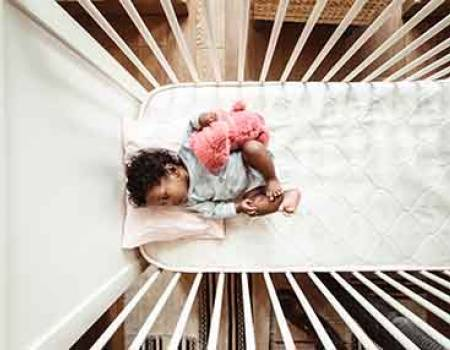Baby in a crib rental