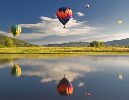 Hot air balloon festival in Steamboat Springs, CO