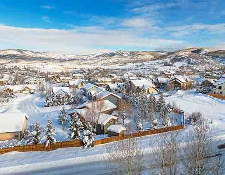Steamboat Springs mountain and homes