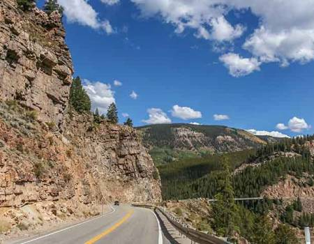 The road to Vail, Colorado