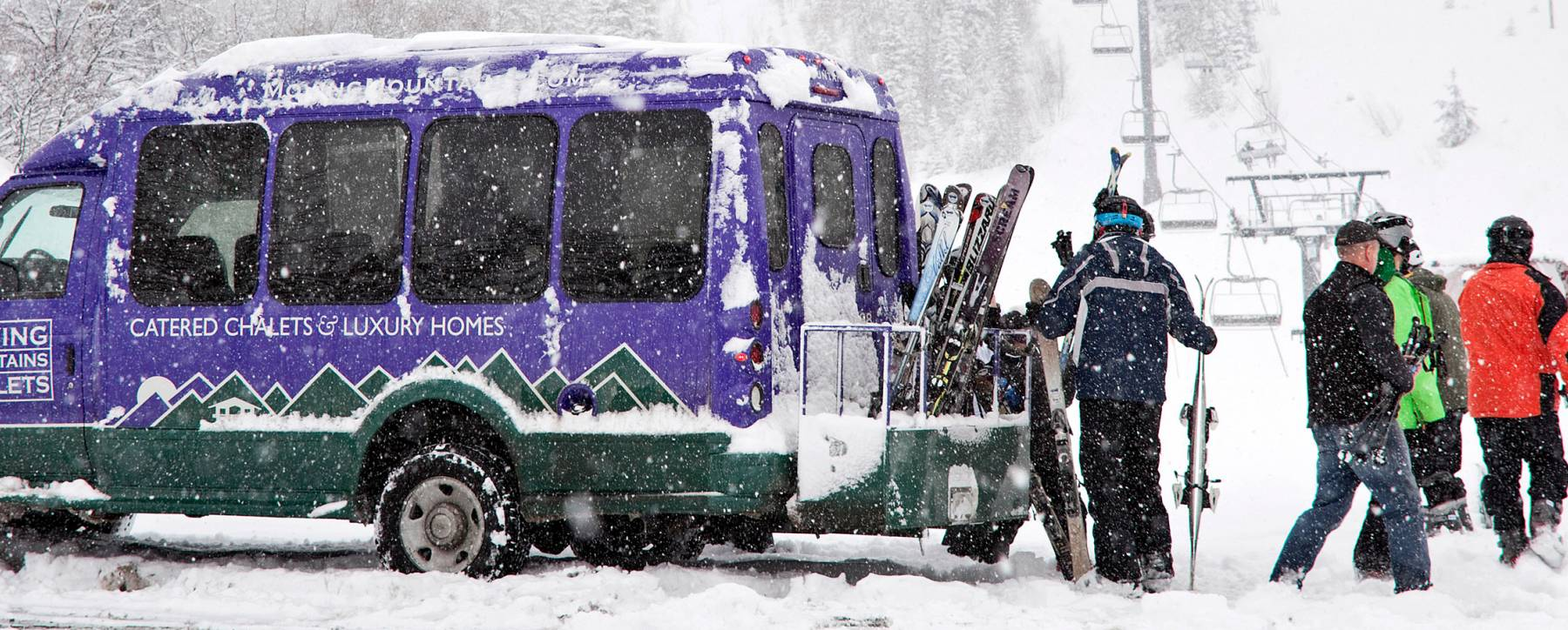 Luxury Vail rental homes include private shuttle service