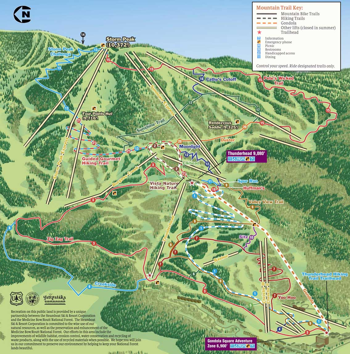bike hike trail map