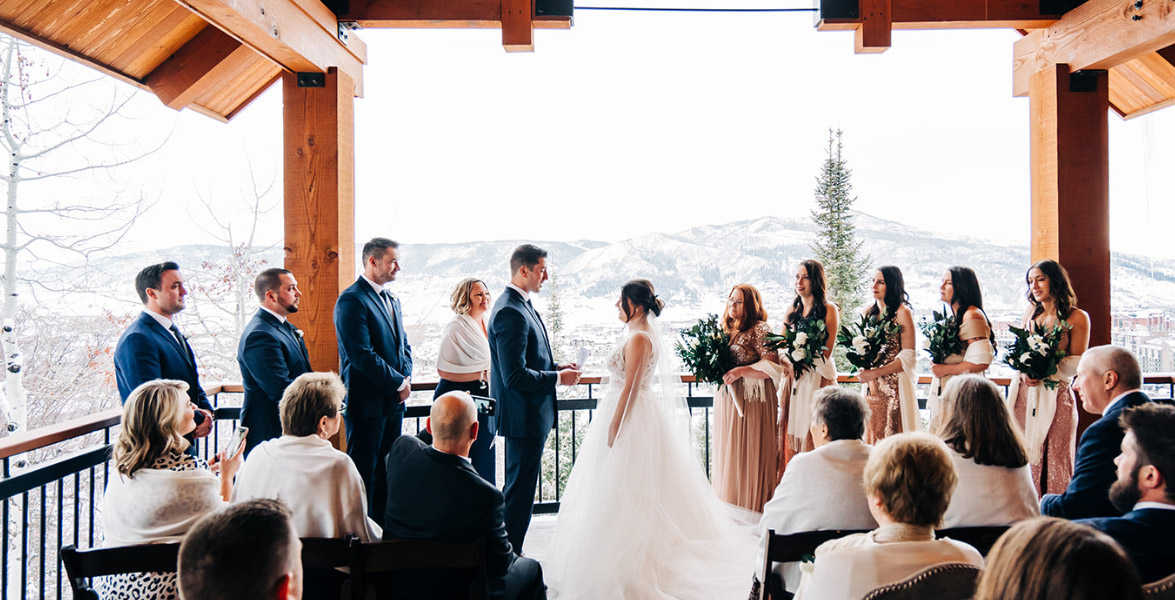 Intimate wedding at Falconhead Luxury Lodge