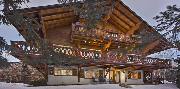 History Ski Chalets on Simple Flat Roof House Design