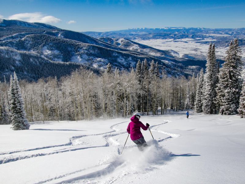 snow in steamboat, vail and beaver creek