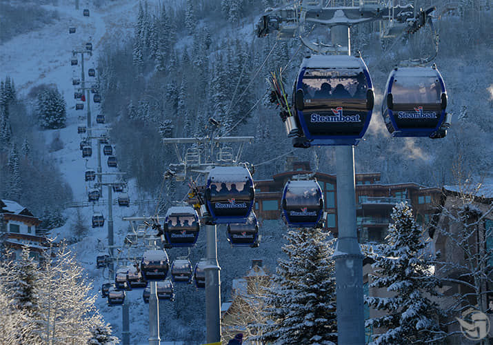 The new Steamboat Gondola carries you quickly to the mountain top