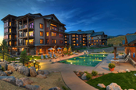 Pool at Trailhead Lodge at Wildhorse Meadows in Steamboat Springs
